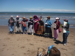 raging grannies and fan