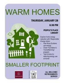 Warm Homes event poster 8.5x11